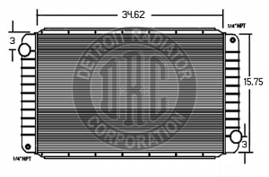 Detroit Radiator Corporation Heavy Duty Truck Radiators, Radiator